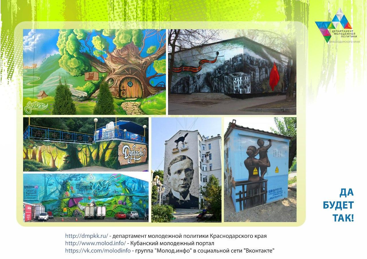 Ищем молодых художников и дизайнеров для участия в интересном краевом проекте уличного искусства «ARTКубань»!