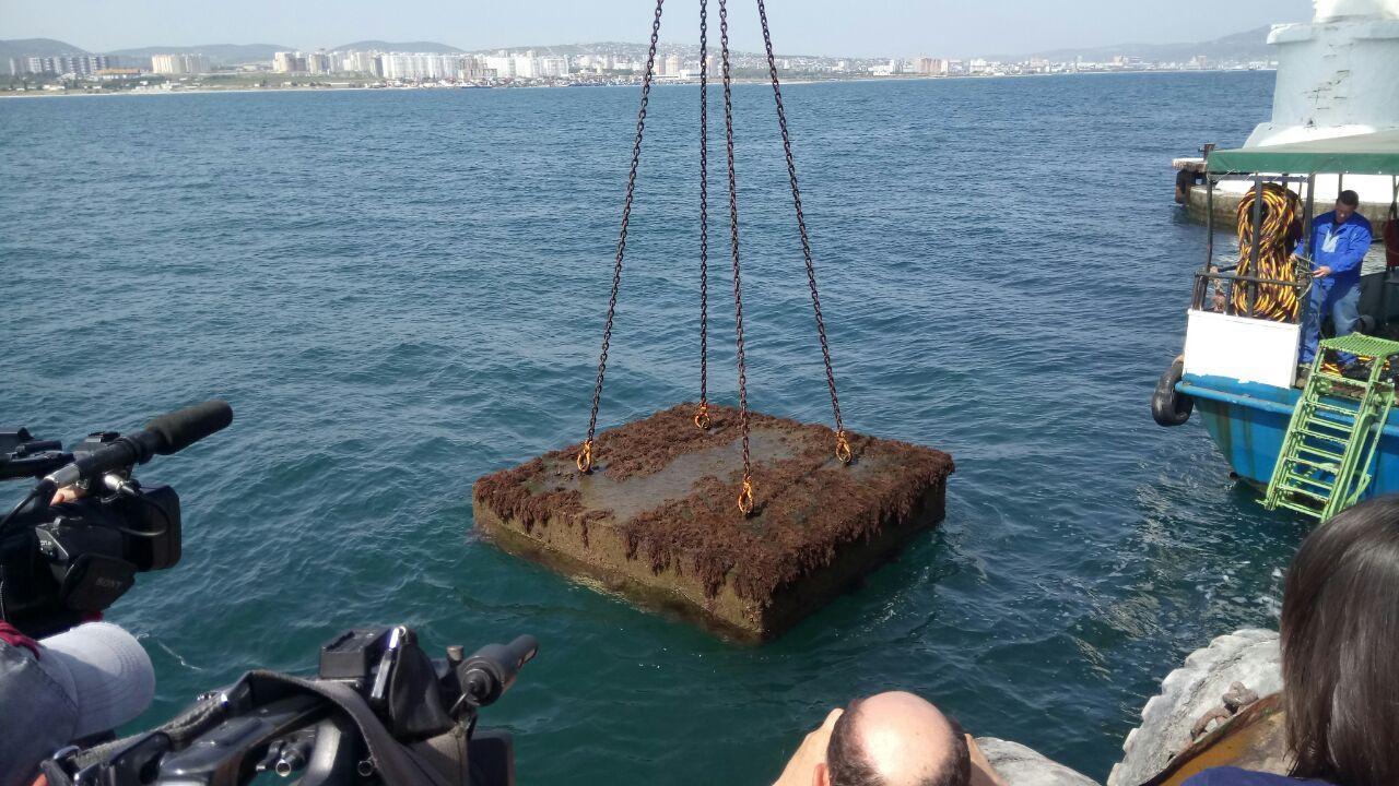 Капсулу «Послание потомкам» подняли со дна моря в Новороссийска