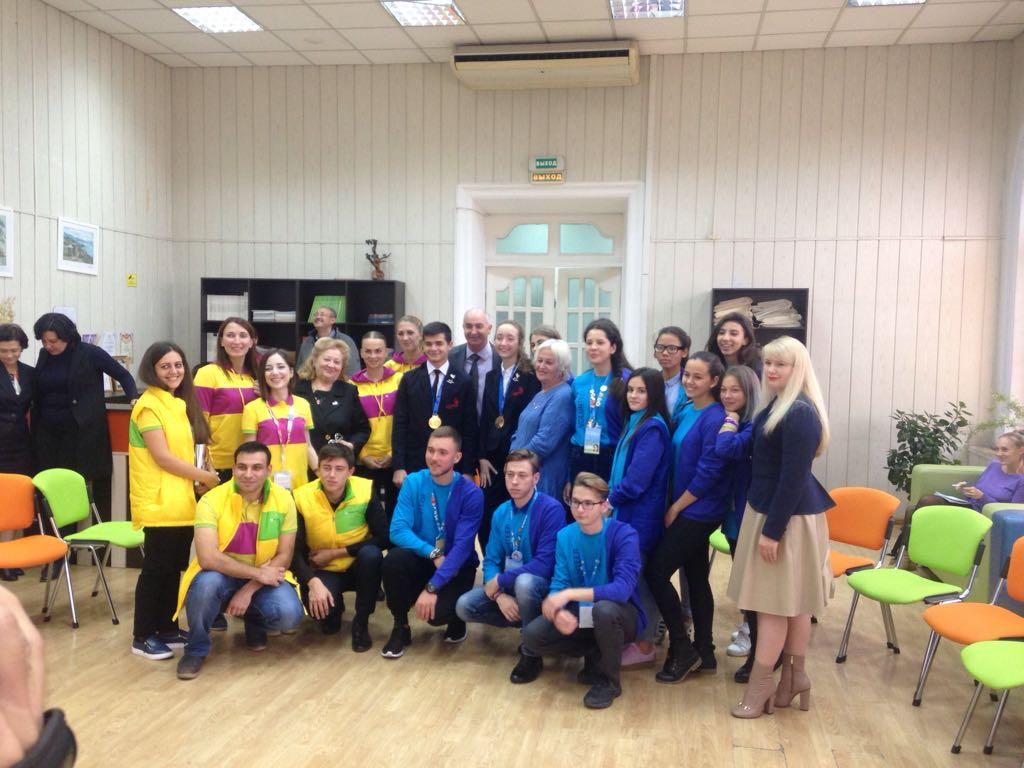 Победители WorldSkills и участники ВФМС 2017 встретились с главой МО г. Новороссийск