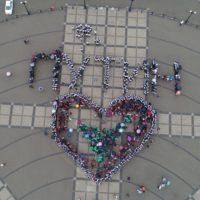 Более 1000 человек в Новороссийске поздравили Владимира Путина