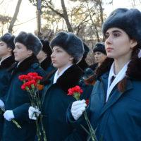 Вчера в рамках акции «Бескозырка» прошел митинг-зажжение факела.