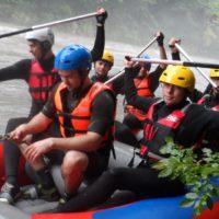 Прошли учебно-тренировочные сборы по рафтингу в Республике Адыгея на р.Белая